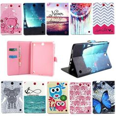 """LOW PRICE For Galaxy Tab A 9.7 Protective leather cover case for samsung GALAXY Tab A 9.7 T555 T550 9.7"""" tablet cases Flower Series s4D69d   - FREE SHIPPING"""