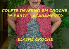 COLETE INVERNO EM CROCHÊ ACABAMENTO; Crochet circular bolero jacket