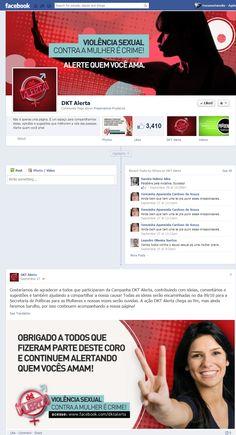 Página da Campanha DKT Alerta para causas sociais.