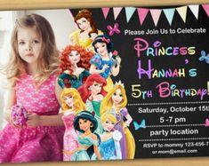 Disney Princess Invitation Disney Princess by SuperFunnyParty