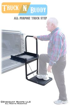 Truck N Buddy Tailgate Step from Discount Ramps provides easy access to the bed of a pickup.