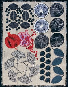 Jeanne Benson {designs quilts and appliqué patterns in Columbia, MD, and teaches workshops around the country}