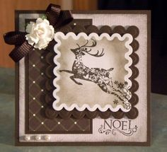 Handmade Christmas Card - Beautifully Ornate Reindeer