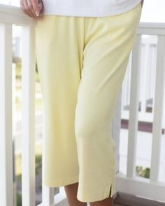 UltraSofts by National Cropped Pants, Butter, Large UltraSofts by National. $21.95