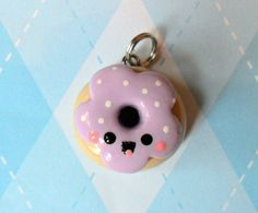 Kawaii Donut Charm Cute Polymer Clay Charm by JollyCharms on Etsy, $5.00