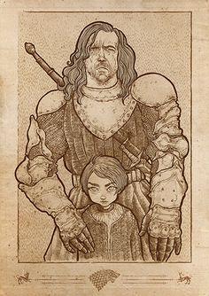The Hound protecting Arya