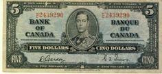 Canada Bank of Canada 5 Dollars 1937 Gorden Towers UF