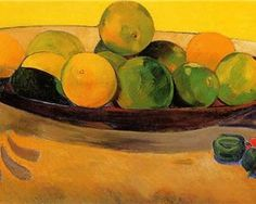 Still life with Tahitian oranges - Paul Gauguin