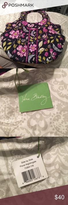 Vera Bradley Floral Nightingale side by side bag Vera Bradley floral nightingale side by side bag with tag! Perfect condition. Vera Bradley Bags Shoulder Bags
