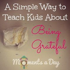 A Simple Activity To Teach Kids About Gratitude