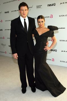 In May 2010, Lea Michele and Cory Monteith attended Elton John's AIDS Foundation Oscars party in West Hollywood.