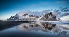 Vestrahorn Reflection by MattMcGee - Show The Beach Photo Contest