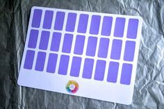Purple Blank Labels - 27 Stickers