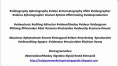 Ig Video, Video Clip, Best Instagram Hashtags, Most Popular Hashtags, Insta Videos, Gif Of The Day, Video Editing, Top Tags, Videography