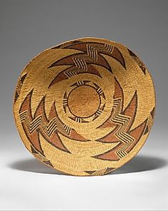 Basket Trayca. 1900      Basket Tray ca. 1900, Coe Collection @ the MET. Native American