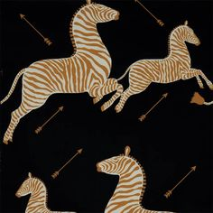 Scalamandre's Zebras now offered in black and gold.
