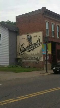 Old advertising on side of building in Chippewa Falls WI