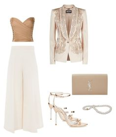 """""""Cosmina"""" by cosmina79 on Polyvore featuring Just Cavalli, Sophia Webster, Balmain, Valentino and Yves Saint Laurent"""