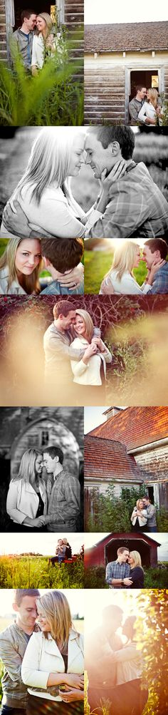 Rustic/Rural/Farm Engagement Photography