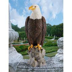 "Design Toscano Exclusive 21½"" Hand Painted Majestic Mountain Eagle Garden Statue #DesignToscanoExclusive"