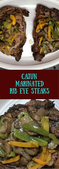 Succulent rib eye steaks take a dip in a Cajun marinade before being grilled and…