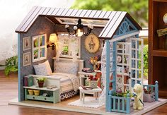 Architecture/diy House/mininatures Professional Sale 2018 Hot Diy Birthday/valentine/christmas Gifts Miniature Furnitures Model Kits 3d Assemble Toys Creative Diary Dollhouse At All Costs Toys & Hobbies