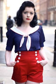 Vintage_Nautical Inspired_Fashion_ http://attackofthemutantcheesecake.tumblr.com/post/58981082208