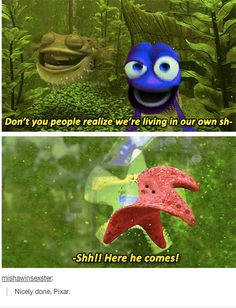 i never noticed this.it's too funny! disney and pixar always have little hidden things here and there. Disney Pixar, Film Disney, Disney Memes, Disney And Dreamworks, Funny Disney, My Tumblr, Tumblr Funny, Disney Love, Disney Magic