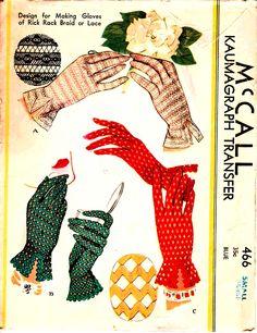 #sewing #vintage #pattern #gloves #1940's