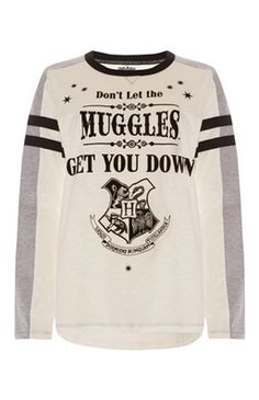 White Harry Potter Muggles Top
