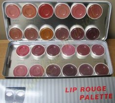 Kryolan Lip Rouge 24 Color Palette Theater Makeup 1208 Pearl $79.99