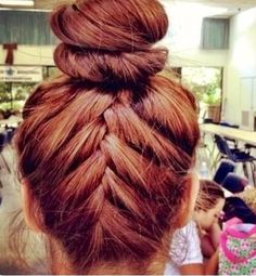 braided bun updo hair