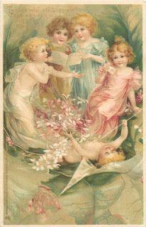 Vintage Frances Brundage postcard, ca. 1900s