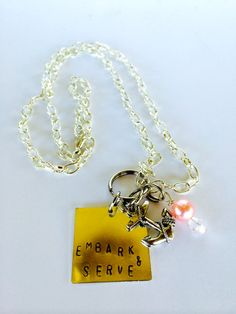 New for the 2015 Mutual Theme: Embark in the Service of God necklace. Perfect for the Young Women near and dear to your heart! They make great: