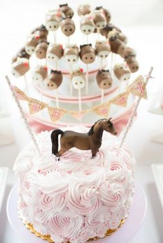 Pretty Cake - pink and brown pony party