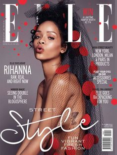 Rihanna on pinterest e online rihanna street style and for Elle magazine this month