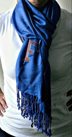 University of Florida Scarf! Too cute... Totally making this!!! @Katelyn Ashley