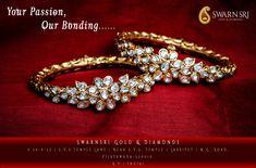 diamond bracelets for small wrists Indian Wedding Jewelry, Indian Jewelry, Bridal Jewelry, Gold Bangles Design, Gold Jewellery Design, Gold Jewelry, Women Jewelry, Diamond Bangle, Diamond Pendant