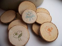 Birds Of A Feather Nest Together Wood Magnets