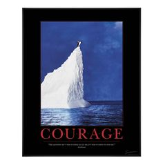 Courage Penguin Motivational Poster