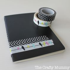 {20 Minute Crafter} Washi Tape Notebook | And Sew We Craft