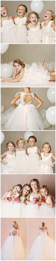 The sweetest flower girl dresses from @fattiepie!