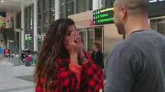 proposal at the airport - made me cry :)