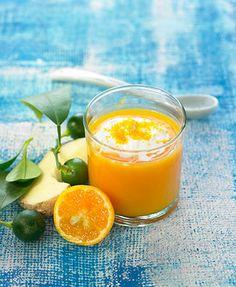 carrot, orange + ginger gazpacho via @pamela brannon