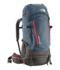 Men's The North Face Terra 65 Hiking Pack This journeyman favorite has been completely re-tooled for Spring 2014 with a user-friendly design that's slimmer and Best Hiking Backpacks, Cool Backpacks, Backpacking Gear, Camping Gear, Camping Gadgets, Backpack Brands, Camping Equipment, North Face Backpack, Red Backpack