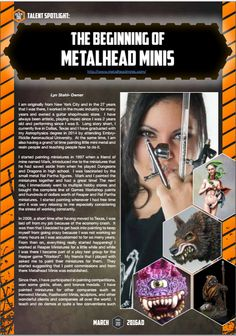 The Golden D6 Issue Two Metalhead Minis feature
