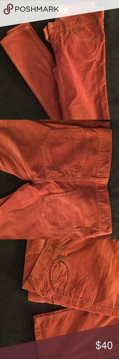 Free People brunt orange size 25 skinny jeans These are corduroy jeans in size 25 that have never been worn. Free People Jeans Skinny