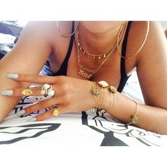 Gold Jewellery Necklace Rings Bracelets Swag Chic