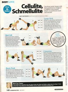 mybodyisblank:  YES! Combat cellulite for a firm bootay.  (via Cosmopolitan Magazine: Cellulite, Schmellulite » Tracy Anderson Method - Train the Method)
