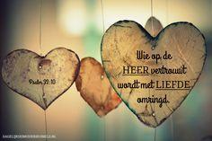 Maar wie op de HEER vertrouwt wordt met liefde omringd. Psalm 32:10 #Heer, #Liefde, #Vertrouwen http://www.dagelijksebroodkruimels.nl/psalm-32-10/